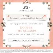 Double Hostess Credits is being extended to March 31st !!
