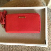 Mercer Zip Wallet in Poppy