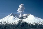 A volcano with the icecaps