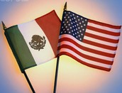 Mexico and USA flags