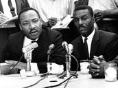 Shuttlesworth next to Martin Luther King Jr.