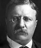 Teddy Roosevelt wearing his glasses