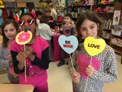 Love is in the air in Mrs. Sharp's third grade classroom.