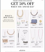 Trunk Show Exclusives - Get 50% off of these now
