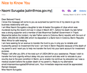 Scammer emails