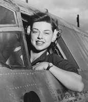 A real women in the WASP in a plane