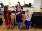 Sunday School class singing
