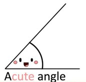 Acute Angle- An angle with less than 90 degrees