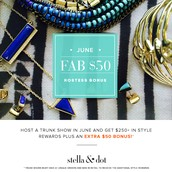Be a hostess in June, earn $50 extra in hostess rewards/style credits.