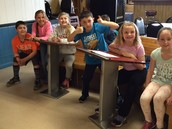 Having fun with classmates