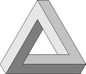 Penrose Triangle (impossible triangle)