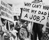 Children protesting during the Great Depression.
