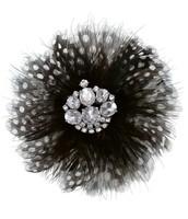 Plume Brooch - Black & White