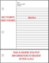 Note Taking Methods- Cornell method