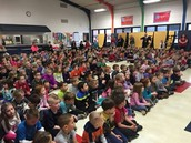 Students were excited to gather for our kick-off assembly!