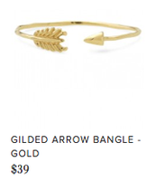 Gilded Arrow Bangle Reg $39 ~ Sale $20