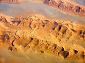 The Sahara Desert from above