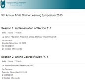 9th Annual MVU Online Learning Symposium 2013
