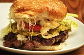 una hamburguesa