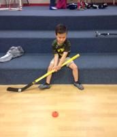 Breaking in the new hockey equipment