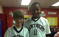Fifth Grade Panther Basketball Players