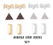 Aurora Stud Pack $29 (gold or silver)