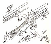 Interchangeable parts of a gun