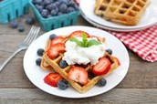 Whole Grain waffles with fruit!