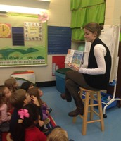 Miss Lindsay reading Scaredy Squirrel