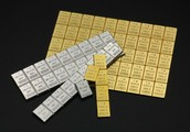 VALCAMBI GOLD AND SILVER BREAKAWAY BARS.