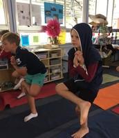 Yoga In Ms Carson's Class