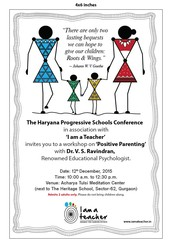 POSITIVE PARENTING' WORKSHOP BY DR. V.S. RAVINDRAN by HPSC in conjunction with I Am A Teacher