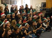 Elementary Honor Choir performing at the Early Childhood Center for our Preschool