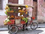 Las verduras y frutas frescas