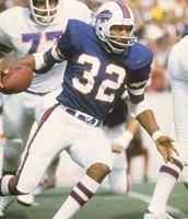 O.J playing for the Buffalo Bills