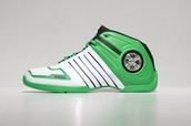 the green and white Dada Shoes