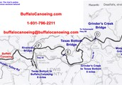 Map of the Buffalo River