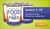 Food For Fines- January 5-18