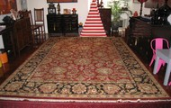 Red and Navy Agra Rug   cm x   cm $