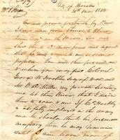 Sam Houston letter to William O'Brian