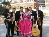 A mariachi band ready to preform at a wedding