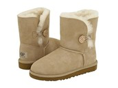 Tan uggs with button