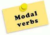 These are the Modal verbs: