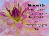 GE LIFE PRINCIPLE-Sincerity