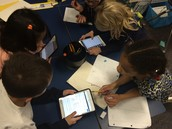Mrs. Richey's class using mini- iPads