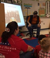 Veteran Mr. Hall came in to tell us about his service.