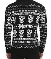 los la marca  Misfits lana negro y blanco sueter