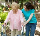 Volunteering at retirement homes or just helping elders out in general