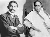 Kasturba and Gandhi