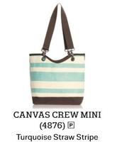 Canvas Crew Mini In Turquoise Straw Stripe